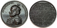 POLAND. IRON MEDAL OF STREPHAN BATHORY BY J.J. REICHEL  CA. 1790'S. CHOICE AU