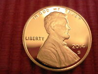 2014 S LINCOLN GEM PROOF SHIELD REVERSE PENNY SUPER NICE