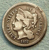 1872 THREE CENT NICKEL NICE