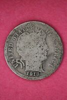 1913 P BARBER DIME LOW GRADE/PROBLEM EXACT COIN PICTURED FLAT RATE SHIPPING 094