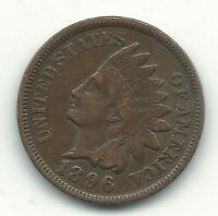 A VINTAGE FINE/VERY FINE CONDITION 1898 INDIAN HEAD CENT OLD US COIN AUG426