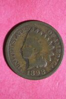 1898 INDIAN HEAD CENT PENNY CIRCULATED CONDITION FLAT RATE SHIPPING COIN 236