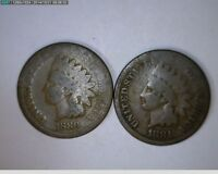 1880 1881 1882 1884 1C INDIAN HEAD CENTS  49,50 89