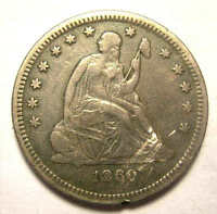 1860 O SEATED QUARTER SHARP DETAIL LINCOLN ELECTION NICE