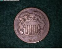 1864 2C TWO CENT CIVIL WAR COIN  3-166