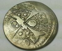 1600S SILVER SPAIN BARCELONA 1 REAL   1 CROAT COIN