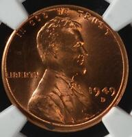 1949 D NGC MS66 RD RED LINCOLN CENT WHEAT 082 GEM UNCIRCULATED SHIPS FREE