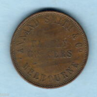 AUSTRALIA TOKEN.   ANNAND SMITH & CO..  1849 1D   MELBOURNE VICTORIA.. GROCERS