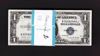 FR.1616  $1 1935 G  SILVER CERTIFICATE B 92582901 J PACK 100 NOTES    2 GEMS