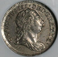 1784 NGC AU 58 GEORGE III SILVER 2 PENCE POP 3/2 GREAT BRITAIN COIN 14122802C