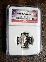 2008 S JEFFERSON NICKEL   NGC PF 69 ULTRA CAMEO   070   MUST SEE