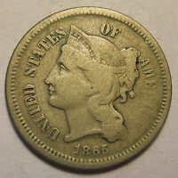 1865 THREE CENT CIVIL WAR NICE