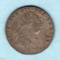 GREAT BRITAIN. 1787   GEORGE  111 SIXPENCE.. WITHOUT HEARTS..  VF