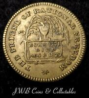 OLD COMMEMORATIVE TOKEN / MEDAL RIGHT HONOURABLE GEORGE CANNING M.P 1771   1827