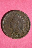 1898 INDIAN HEAD CENT PENNY CIRCULATED CONDITION FLAT RATE SHIPPING COIN 380