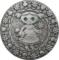 BELARUS 2009 20 ROUBLES ZODIAC SIGNS   VIRGO 28.28 G SILVER COIN WITH ZIRCONS