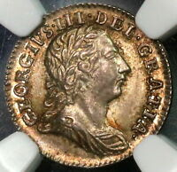 1766 NGC MS 63 SILVER 2 PENCE GEORGE III GREAT BRITAIN COIN POP 1/2 16112615C