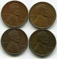 1941 1944 1945 1946 CIRCULATED LINCOLN WHEAT PENNY
