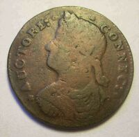 1787 CONNECTICUT LEFT FACING COPPER SHARP BEAUTY NICE