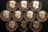1980  1989 PROOF KENNEDY HALF DOLLAR COIN COLLECTION 10 COINS FROM US PROOF SETS