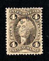 DR JIM STAMPS OLD US REVENUE SCOTT R20 4C INLAND EXCHANGE USED NO RESERVE