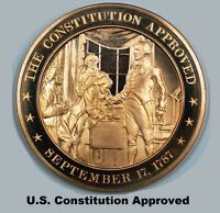 1787 U.S. CONSTITUTION IS APPROVED   FRANKLIN MINT SOLID BRONZE UNCIRCULATED