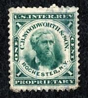 DR JIM STAMPS OLD US BOB PRIVATE DIE SCOTT RT20C 1C C B WOODWORTH & SON THIN