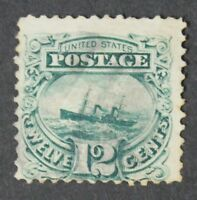 CKSTAMPS: US STAMPS COLLECTION SCOTT117 12C PICTORIAL USED SIGNED TINY TEAR$125