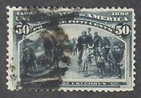 CKSTAMPS: US STAMPS COLLECTION SCOTT240 50C COLUMBIAN USED TINY THIN CV$500