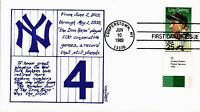 DR JIM STAMPS US HONORING GREAT NEW YORK YANKEES BASEBALL PLAYER FDC COVER 1989