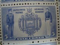 US STAMPS SHEET 5 CENT SCOT794 U.S. NAVAL ACADEMY 50 STAMPS 1936  FACE$2.50