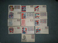 US OVERRUN COUNTRIES FDC COLLECTION, COMPLETE SET, W/CACHET, SCOTT 909-921