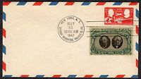 1947 CIPEX EXPOSITION EMBOSSED ENVELOPE - TIED EXPO LABEL  FDC  U12