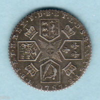 GREAT BRITAIN. 1787   GEORGE  111 SIXPENCE..   WITH HEARTS..  GVF