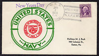 1936 USS ARIZONA BB-39 NEW YEARS DAY U77