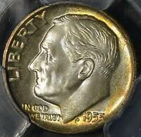 1955 D PCGS MS66 FB ROOSEVELT DIME OLD UNCIRCULATED 90 SILVER COIN SHIPS FREE