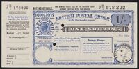 GREAT BRITAIN 1935 KGV SILVER JUBILEE 1/  POSTAL ORDER SUPERB UNC