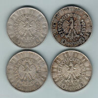 POLAND. 10 ZLOTYCH : 1935 1936X2 & 1939..  GVF   EF/GEF  ALL WITH LUSTRE