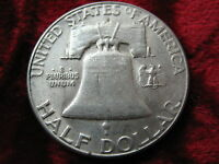 1954 S FRANKLIN SILVER HALF DOLLAR MINT LUSTER HIGHER GRADE FAST SHIPPING