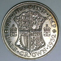 1932  GEORGE V HALF CROWN ,ABOUT LY FINE,COIN S174,COLLECTIONS/ BULK LOT