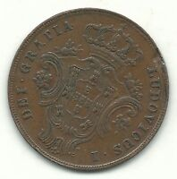 VERY NICE BETTER DATE HIGHER GRADE 1865 PORTUGAL AZORES 10 REIS COIN FEB110