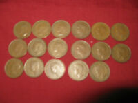 COMPLETE SET  17 CANADA KING GEORGE VI PENNIES 1937 TO 1952.