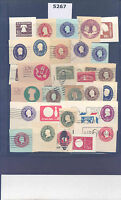 PKSTAMPS - 5267 - US - CUT SQUARES - USED & SOME UNUSED- LOT OF MIXED CONDITION