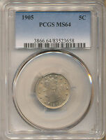 1905 LIBERTY NICKEL MINT STATE 64 PCGS   RPD