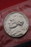 1981 P BU JEFFERSON NICKEL IN CELLO EXACT COIN PICTURED FLAT RATE SHIPPING 05