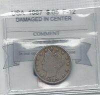 1887 USA NICKEL 5 CENT COIN MART