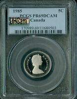 1987 CANADA 5 CENTS NGC MAC PR69 UHCAM ULTRA HEAVY CAMEO SPOTLESS