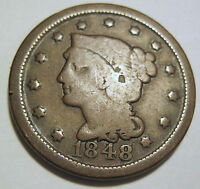 1848 LARGE CENT GOOD COLLECTOR COIN     220G