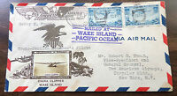 1936 HISTORIC WAKE ISL FLIGHT COVER SIGNED BY 17 CREW & REPORTERS CROSBY CACHET