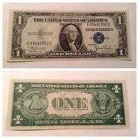 VINTAGE UNCIRCULATED 1935 C $1 SILVER CERTIFICATE WASHINGTON BLUE SEAL UNC